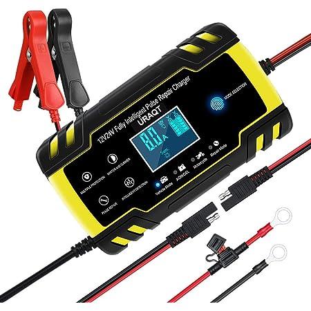 Kkmoon Batterieladegerät Batterie Ladegerät Auto 12v 24v Autobatterie Batterieladegerät Mit Digitalanzeige Für Auto Motorrad Kfz Pkw Auto