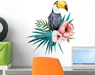 Wallmonkeys Tropical Jungle Toucan Wall Decal Peel and Stick Animal Graphics (18 in H x 18 in W) WM90834