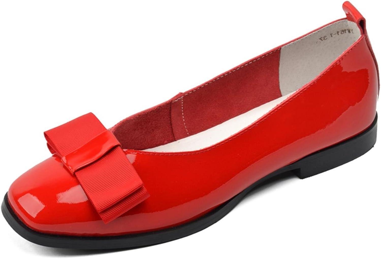 women-in Women Genuine Leather Flats Low Heels Fashion Loafers shoes