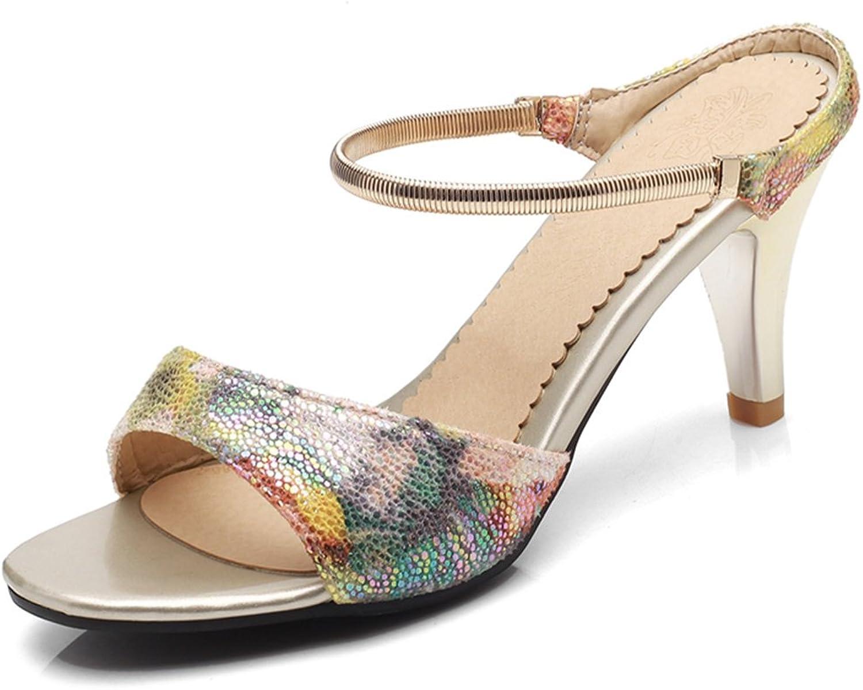 SaraIris Women's Thin Mid Heel Open Toe Summer shoes Singback Casual Slipper Sandals