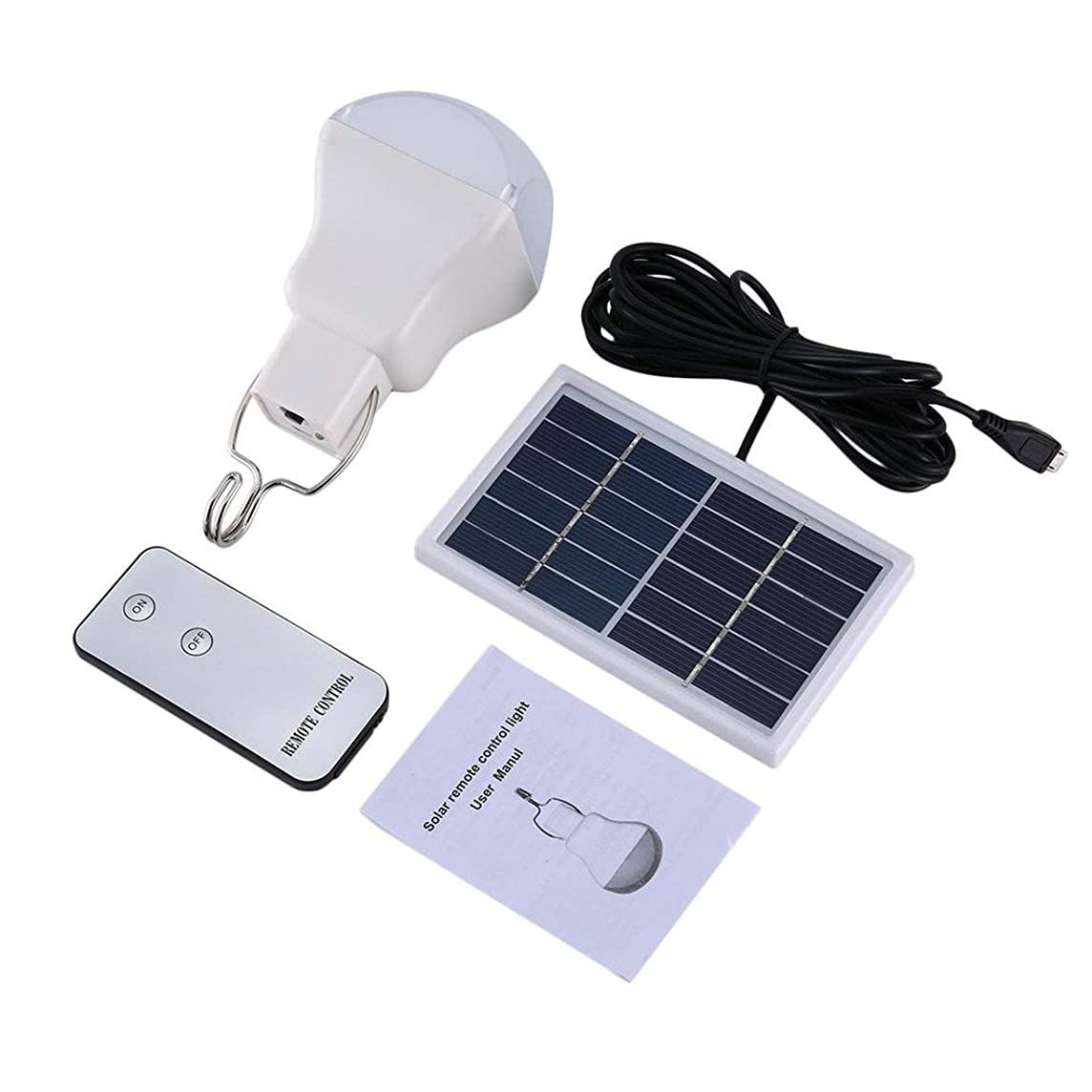 微妙調整橋脚高品質ソーラーライト屋外屋内ソーラー電球ホーム緊急照明道路街路灯-ホワイト