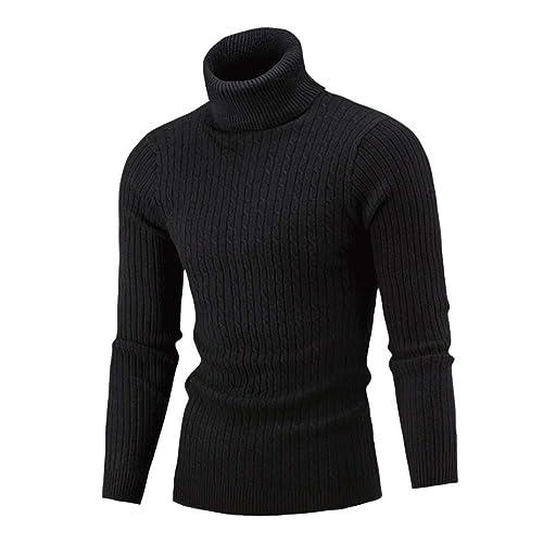 e7dbabc31f82 Mamum Men s Turtlenecks Cotton Knitted Jumper