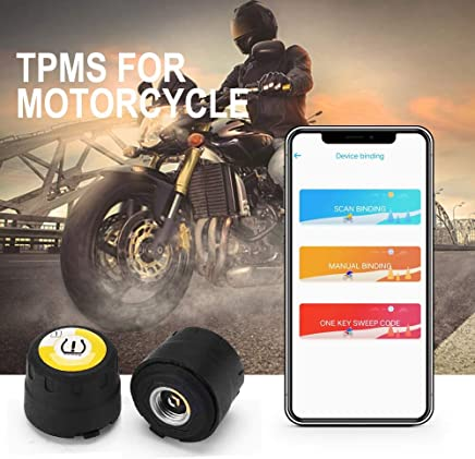 Stylishbuy Auto Tire Pressure Monitoring System Wireless Bluetooth TPMS Universal Car External Sensors Control System for iOS Android Real-time Detection Tire Pressure