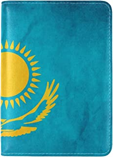 Bear Symbol Flag Russia Leather Passport Holder Cover Case Travel One Pocket