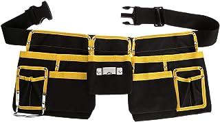 JOYKK Multi-Funcional Electricista Bolsa de Herramientas Cintura Bolsa Cinturón Organizador de Soporte de Almacenamiento - Negro con Amarillo