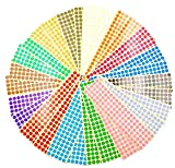 JZK 30 fogli 10mm bollini adesivi colorati 15 colori adesivi rotondi piccoli etichette colorate per codifica etichette adesive segnapagina
