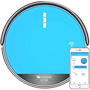 Robot Aspirador Proscenic 811GB, fregasuelo,tanque de agua de control eléctrico,diseño delgado para suelos duros y alfombras. 4 en 1. 140 minutos de Autonomia, 4 modos de limpieza.: Amazon.es: Hogar
