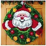 7 Modell Weihnachten Knüpfteppich für Kinder und Erwachsene zum Selber Knüpfen Teppich Latch Hook Kit child Rug Christmas111 52 by