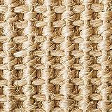 casa pura® Sisal Teppich aus Naturfasern mit Bordüre aus Baumwolle   pflegeleicht   Größe wählbar (Natur, 200 x 290 cm) - 3