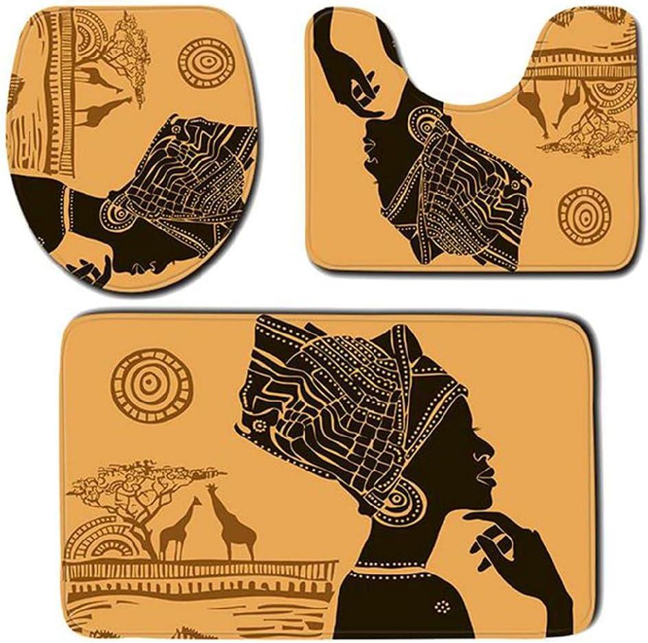 BORHOOD 3Pcs Floor Mat African Cheap SALE Start Women Pattern Set Bathroom No Rug Max 56% OFF