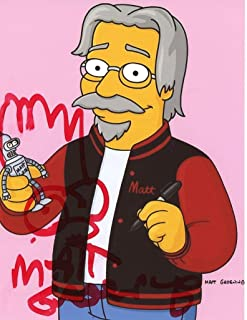MATT GROENING - The Simpsons AUTOGRAPH Signed 8x10 Photo
