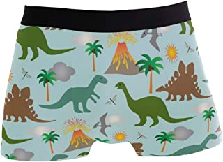 Polyester Tropical Banana Leaves Pattern Board Shorts with Pockets Xk7@KU Mens Casual Swim Trunks