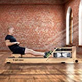 MorNon Home Rowing Machine Wooden Indoor Rowing Machine with Adjustable Footrest and Multi-resistance Adjustment Suitable for Home Fitness Exercise (Wood)