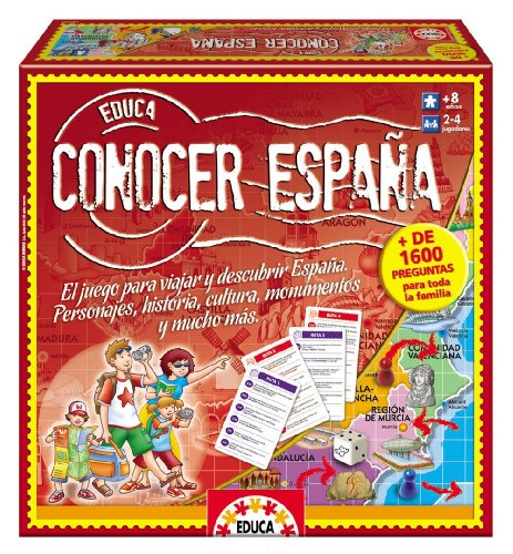 Educa Borrás-Conocer España Juego de Mesa 14668
