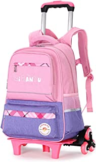 Trolley Backpack School Bag Hard Shell Removable Childrens Suitcase,BESBOMIG
