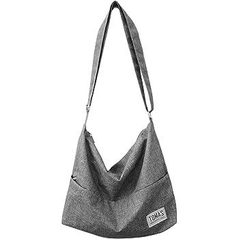 Canvas Bag, TOMAS Women's Hobo Handbags Canvas Shoulder Bag Hobo Crossbody Bag Casual Tote Bag Purse Shopping Work Travel Bag
