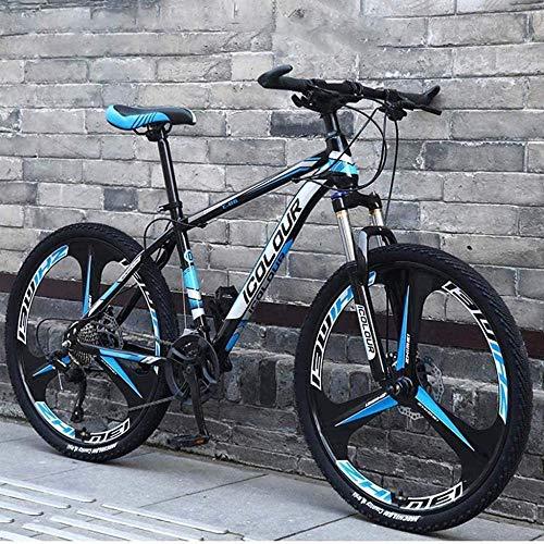 Herren Fahrräder MTB Fahrrad Männer Frauen City Bikes Damen Fahrrad 26 Zoll 24-Gang Mountainbike Aluminium Vollfederung Rahmen Federung Gabel Scheibenbremse-F_26 Zoll