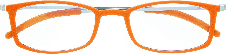 DIDINSKY Gafas de Lectura Graduadas Ultra Delgadas para Hombre y Mujer. Gafas de Presbicia muy Ligeras con Lentes con Protección Luz Azul. 6 Colores y 5 Graduaciones - MACBA SQUARE