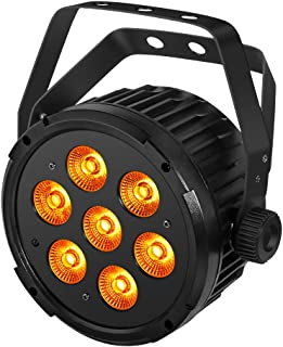 Stage Lights, YeeSite 70W Super Bright RGBWA 5 in 1 LED Par Can Sound Activated by Remote and DMX Control Uplights for Church Wedding Christmas Birthday Party Stage Lighting
