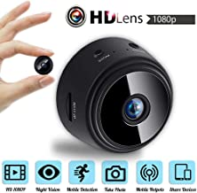 XIANGMENG Portable 1080P HD Mobile Hotspot Mini Camera with 150° Angle/Audio/Mobile Detection/Remote Alarm via App Control,for Outdoor/Home Security
