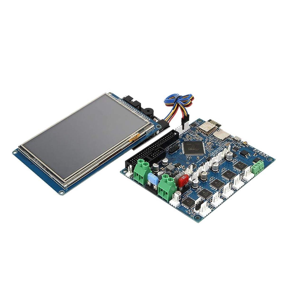 吸収剤ビジョンレインコートNrpfell 最新バージョンDuet 2 Wifi V1.04クローンDuetwifiアドバンスト32ビットエレクトロニクス、5インチPaneldueタッチスクリーンコントローラ - (サイズ:コントロール付き5液晶))