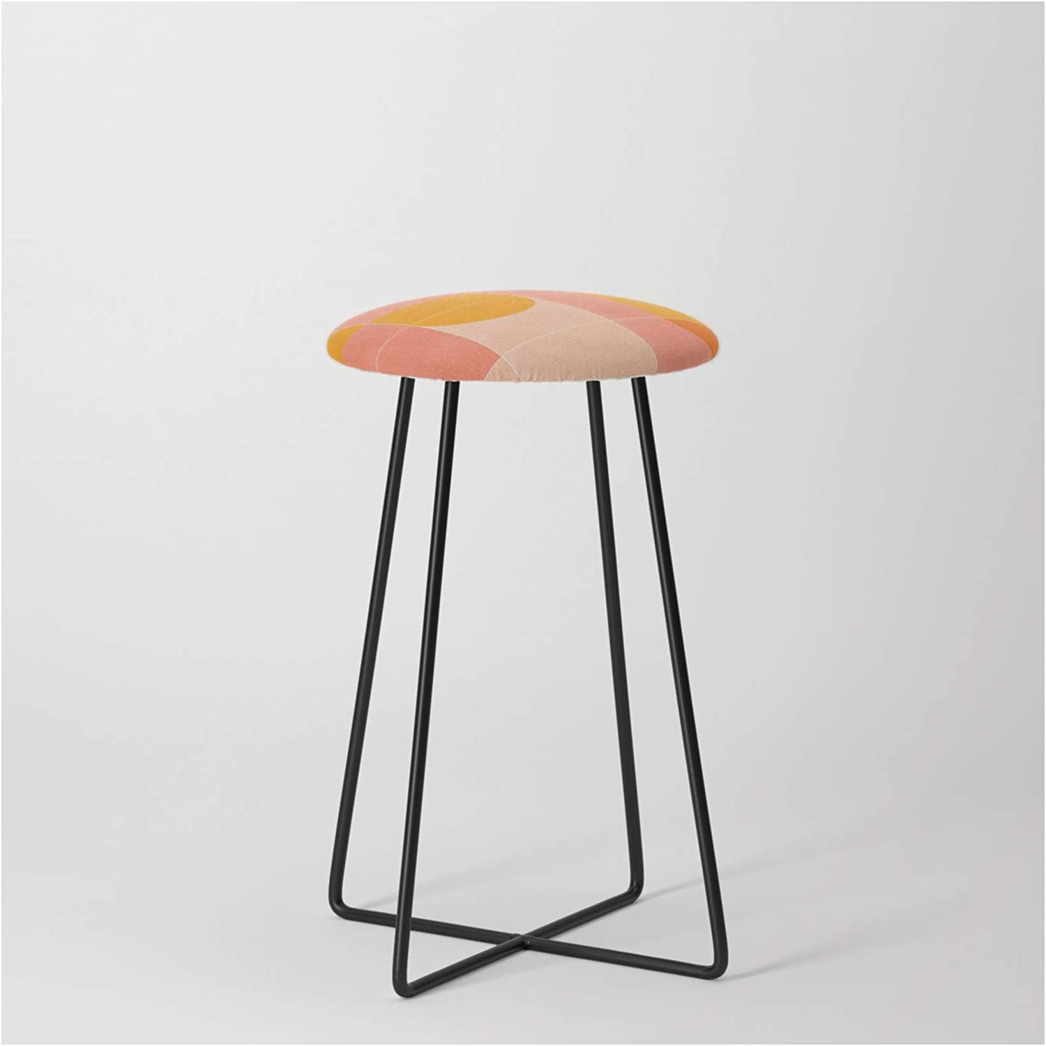 Society6 Retro Tiles Popular products 03 by Designdn on Finally popular brand Black - Counter Stool