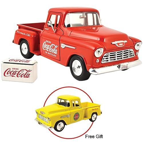 3e67718c297cba Motor city classics 1955 Coke Chevy Stepside w  Cooler Die Cast Truck   Coca -