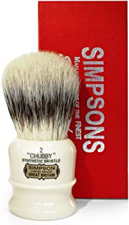 SIMPSONS CHUBBY SYNTHETIC BADGER SHAVING BRUSH blaireau rasage poil synthetique