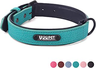 voopet Luxury Leather Adjustable Collars