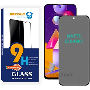 BOX24x7 Matte Screen Guard For Samsung Galaxy M31s | Samsug Galaxy A51 Matte Ceramic Film with Edge To Edge Cover Black - Pack 1 (It's Not Glass)