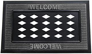 Evergreen Flag Beautiful Cutout Welcome Durable Sassafras Welcome Mat Tray - 32 x 20 Inches Fade and Weather Resistant Out...