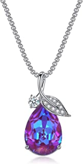 Step Forward Teardrop Pendant Necklace with Swarovski...
