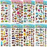 LISOPO 700+ Adesivi per Bambini, Adesivi 3D Stickers per Puffy Adesivi per Regali Gratificanti Scrapbooking Inclusi Camion, Aeroplani, Animali, Pesci, Dinosauri, Numeri, Frutta e Altro (23 Fogli)