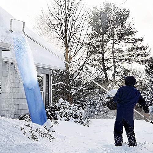 Nlight Aluminium Schneedach Rechen Dach Schneeräumwerk, 20 Fuß Mit Teleskopierbarem Schneedachschwader, Kratzfrei Ideal Zum Entfernen Von Schneerückständen, Dach Schneeräumwerkzeug