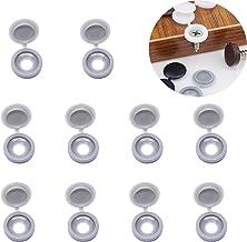 YouU 50 stuks schroefdop schroefdoppen kunststof schroefdeksel voor schroeven met platte kop - 5 kleuren Selecteer beige/l...