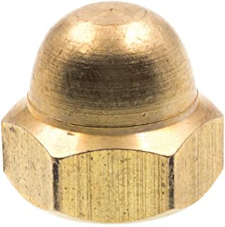 Acorn Cap Dome Nuts Closed End #10-32 Brass 25 pcs