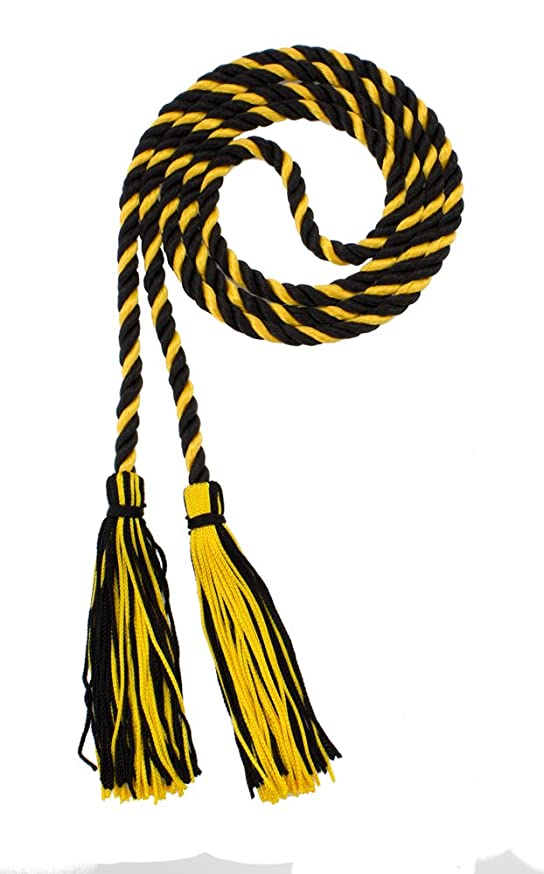 HONOR CORD - BLACK / GOLD - TASSEL DEPOT BRAND - MADE IN USA
