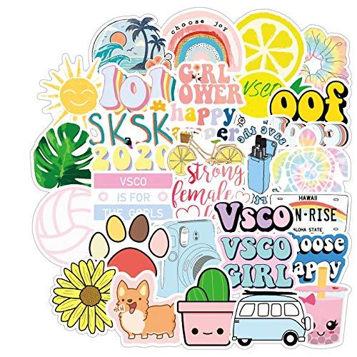 MBGM 50 pegatinas lindas para niña, personalizadas, impermeables, resistentes al desgaste, maleta, equipaje, pegatinas personalizadas