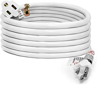 FIRMERST 10 Feet Extension Cord 14 AWG Heavy Duty 1875W 3 Prong White UL Listed