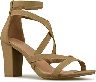 Classified Handle Womens Strappy Open Toe High Chunky Heel - Sexy Stacked Heel Sandal - Cute Strappy Shoe