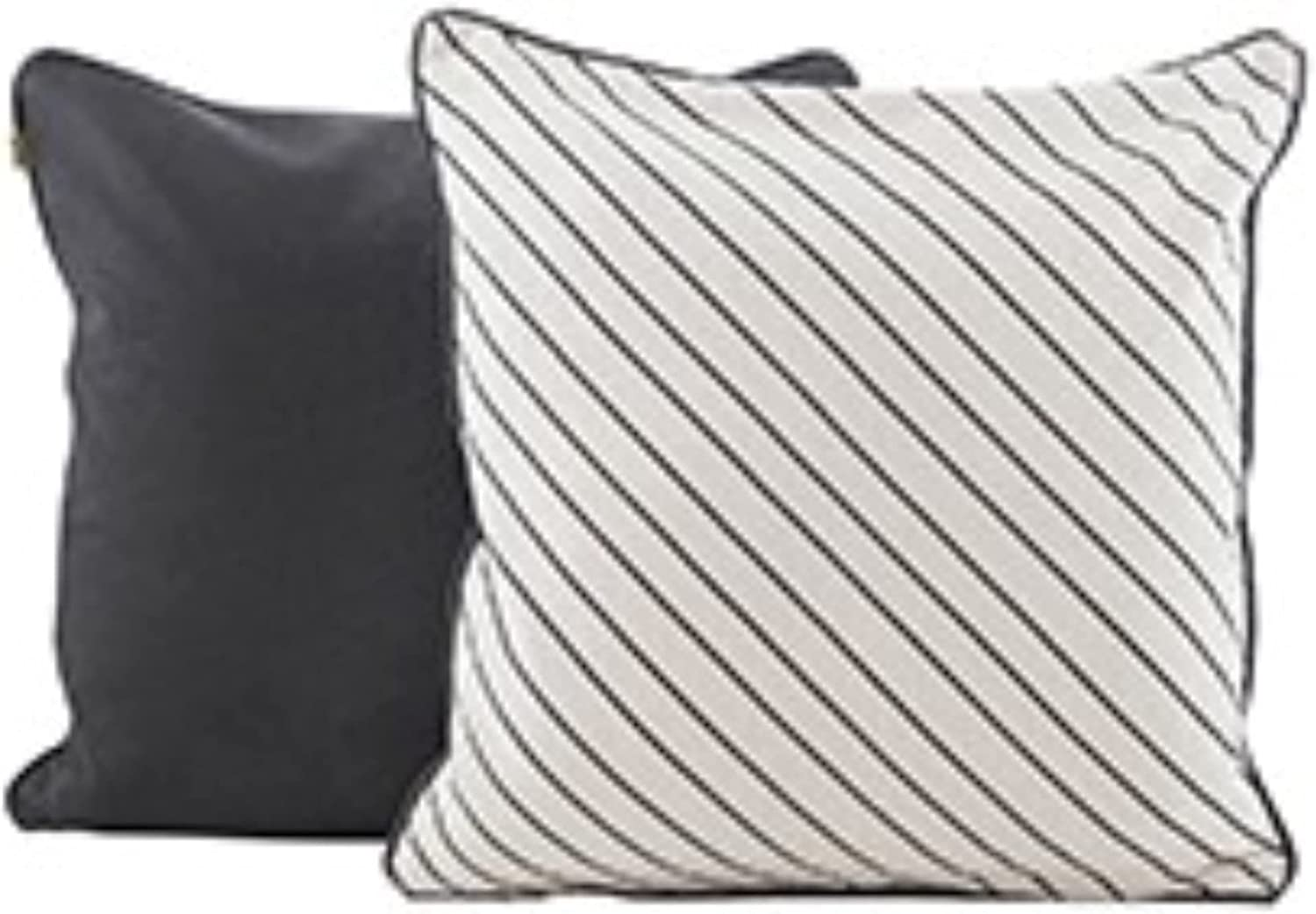 Set of 2 All items in the store Black and Decorative Daily bargain sale Slanted Stripe Pillows Ivory