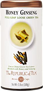 The Republic of Tea Honey Ginseng Full-Leaf Tea, 3.5 Ounces / 50 Cups