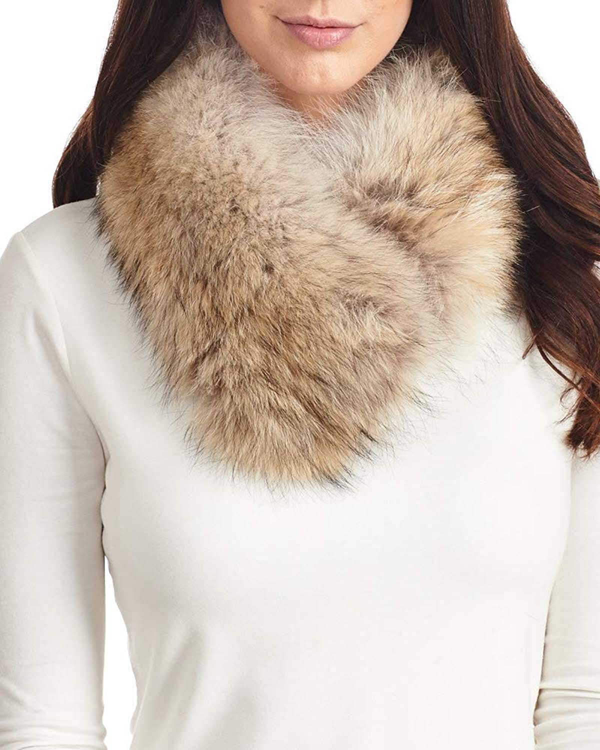 Fur Collar Scarf  Coyote Fur