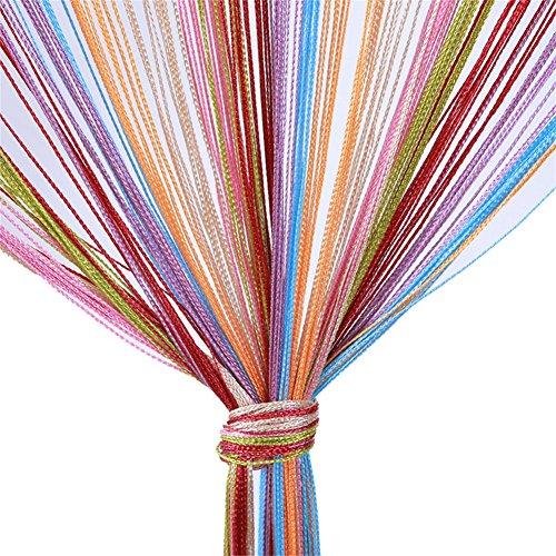 Vidillo Cortina de hilos de plata de la tira de las cintas de la cinta de la puerta para casarse, café, casa