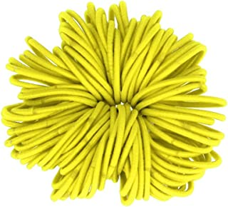 DZT1968 100pcs Women girl Elastic Hair TiesRopes Ring Ponytail Holder Accessories (yellow)
