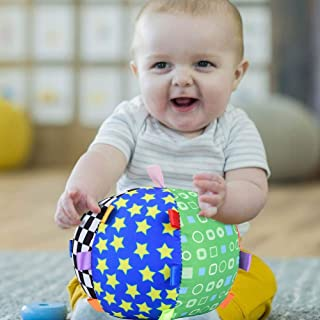 Oyunngs Baby Hand Grip Colorful Ball, Music Feeling Ball Bell, Children Kids Educational Fun Ball Toy for Infants Fine Motor Skills