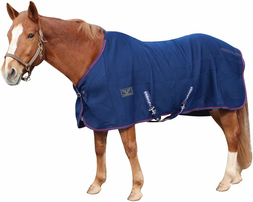 TuffRider Thermo Manager Stable Sheet with Contrast Kansas Limited time for free shipping City Mall Piping Navy