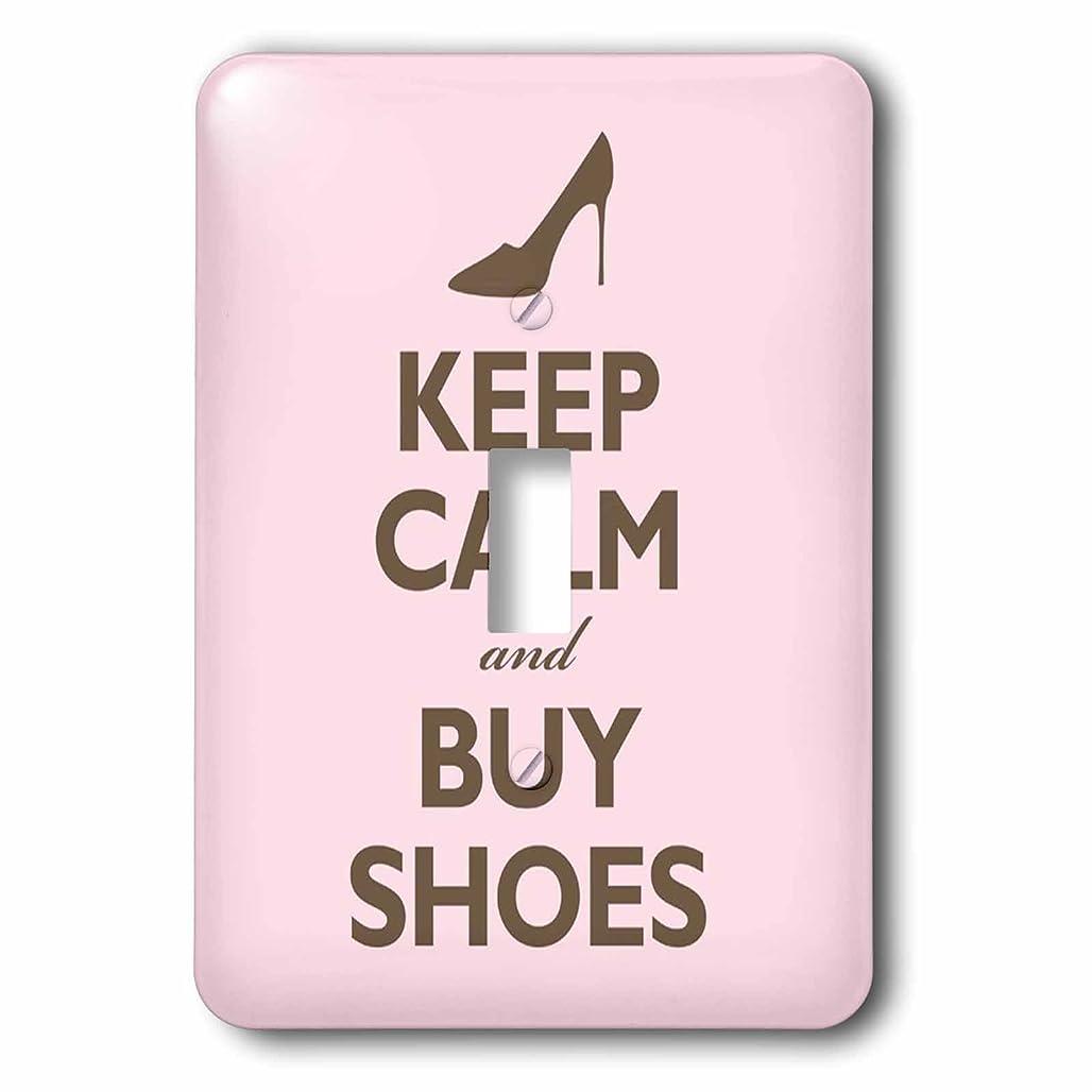見捨てるアボート紳士3drose LSP 159571?_ 1?Keep Calm and Buy Shoes、ピンクライトスイッチカバー