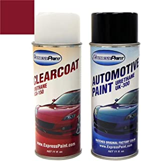 ExpressPaint Aerosol - Automotive Touch-up Paint for Toyota Camry - Dark Red Mica Pearl Clearcoat 3N6 - Color + Clearcoat Package