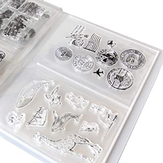 Clear Stamps Storage Folder Paper Craft Keeper Cards Storage Album can Hold 40pcs Clear Stamps 3.8